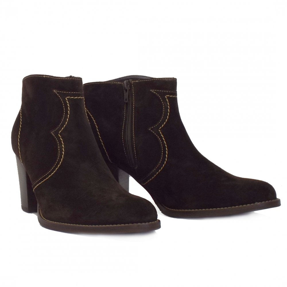 marisana ankle boot in cocoa brown suede