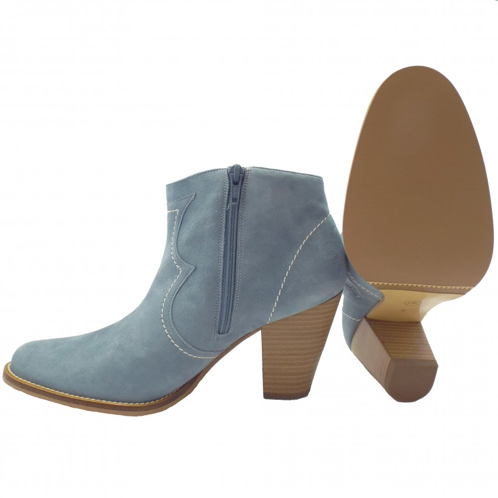 Peter Kaiser Marisana Light Blue Suede Ladies Ankle