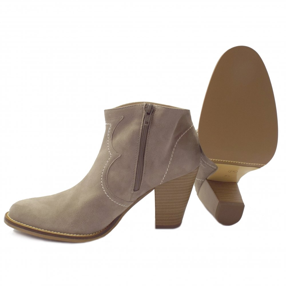 kaiser marisana heeled ankle boots in beige