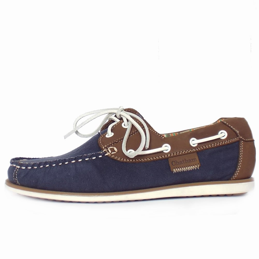 Men's Canvas Boat Shoes In Navy