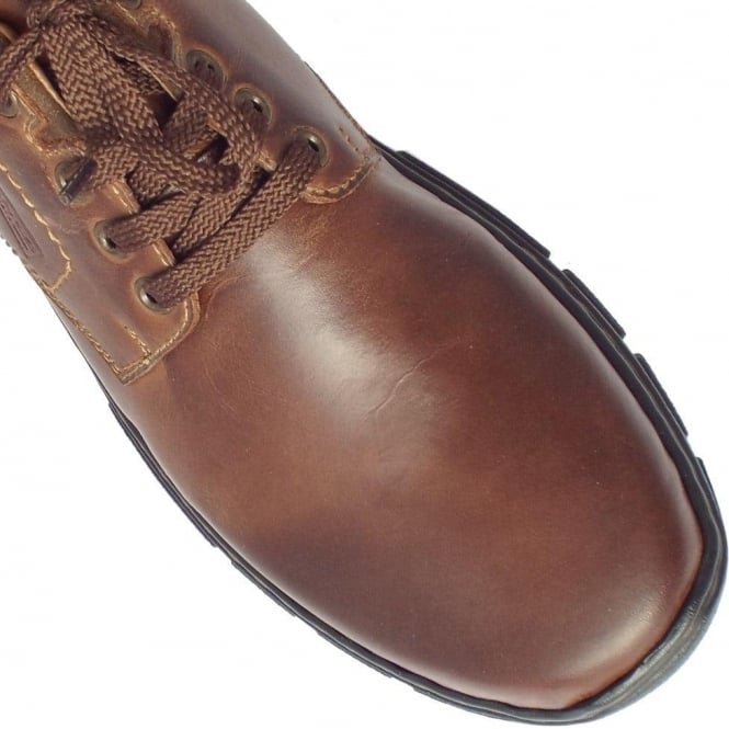 delicate colors amazon official images Rieker Maverick Men's Casual Lace Up Shoes in Brown Leather