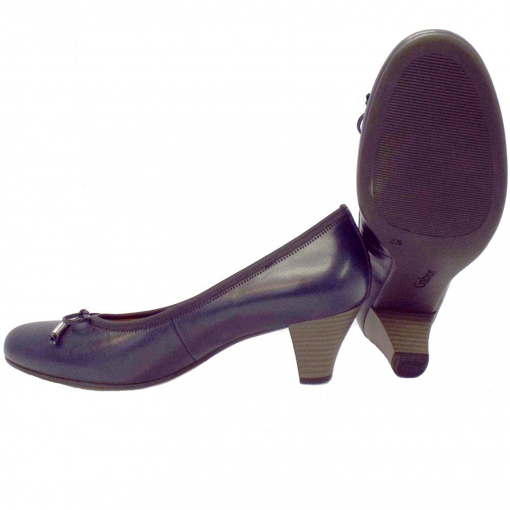 gabor shoes melton navy blue leather shoe mozimo