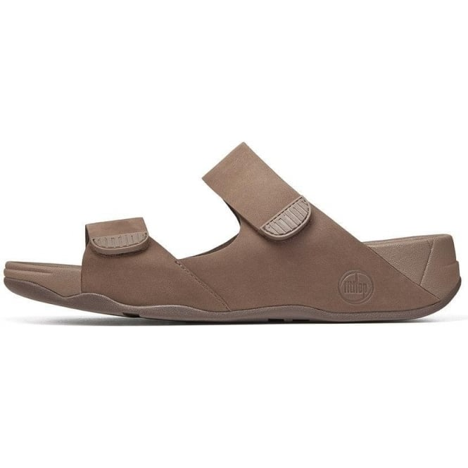 e6de5009f84f Men  039 s Gogh Slide II two-bar adjustable sandals in chocolate leather