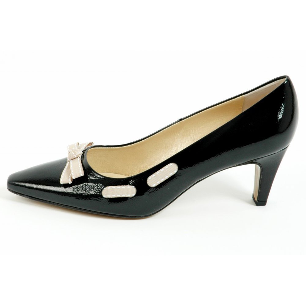 Black Pointed Court Shoes Uk