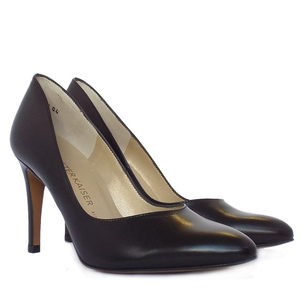 kaiser mina stiletto shoe in black leather mozimo