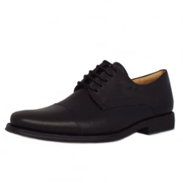 Misc Elegant Mens Brogue Shoes in Black Leather