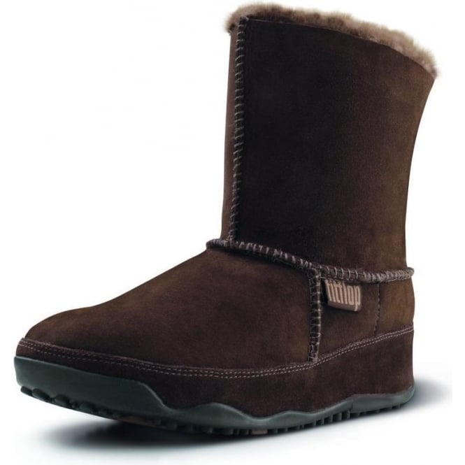 7c5670e70fc47 Mukluk Suede boot in chocolate