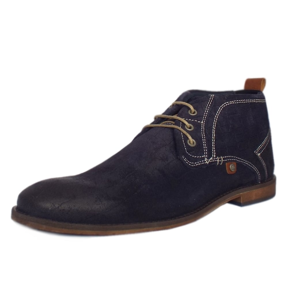 s oliver muinch 15202 mens navy suede desert boots mozimo