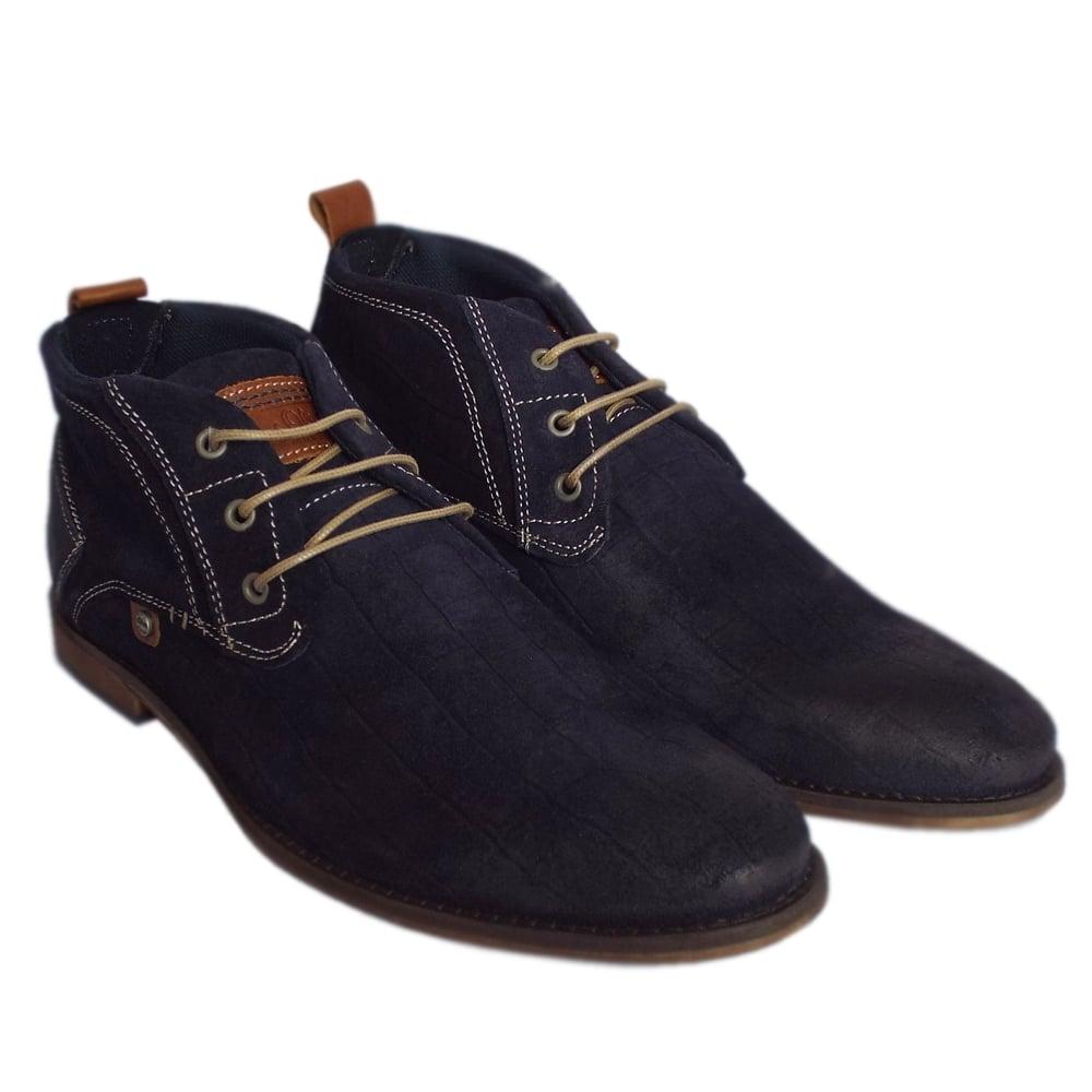 s oliver muinch 15202 mens navy suede desert boots mozimo. Black Bedroom Furniture Sets. Home Design Ideas