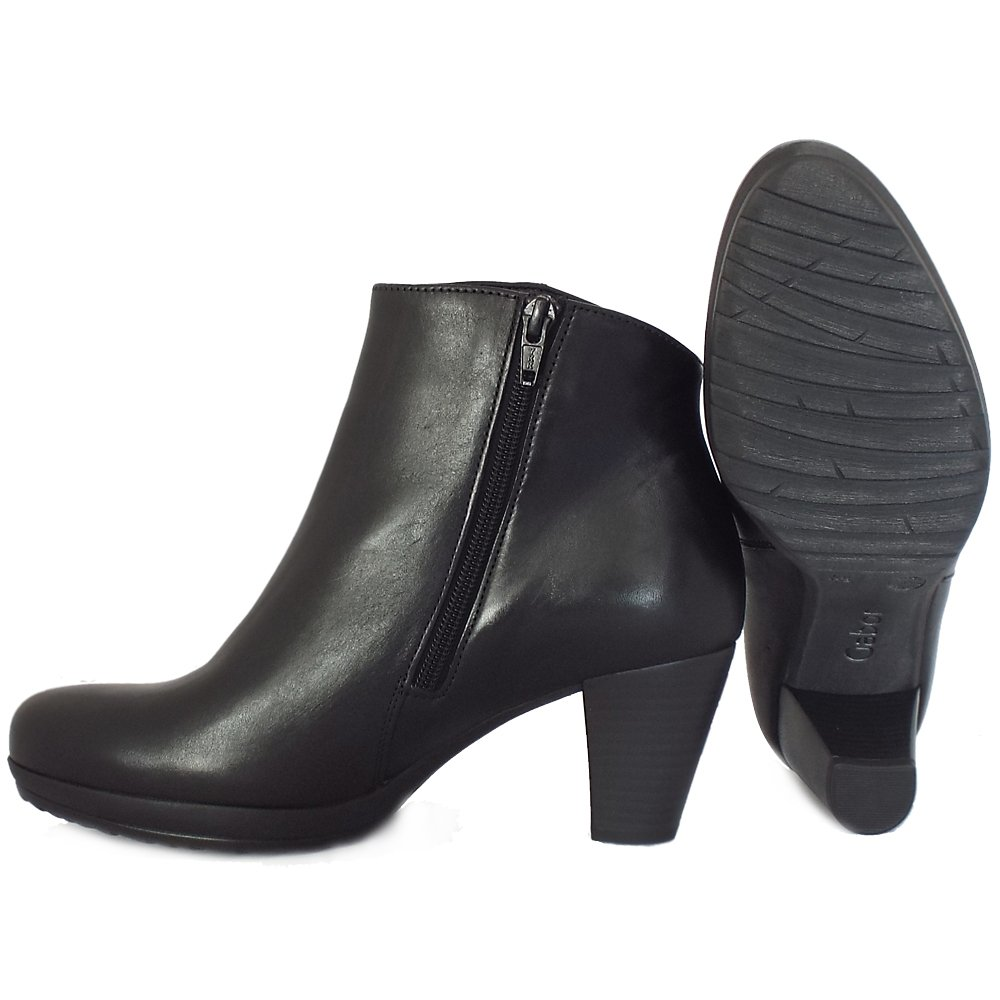 Shop leather heel ankle boots at Neiman Marcus, where you will find free shipping on the latest in fashion from top designers.