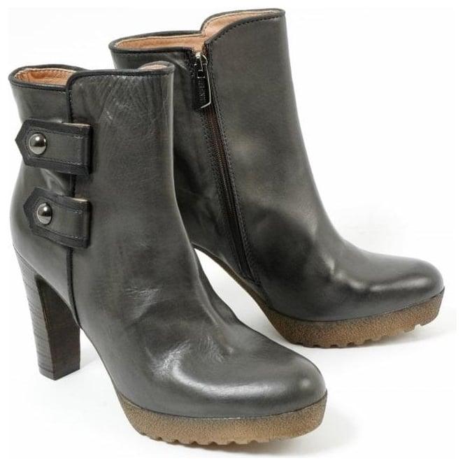 b68397678549a Napoli Italian fashion Lea Foscati high heel anthracite boots