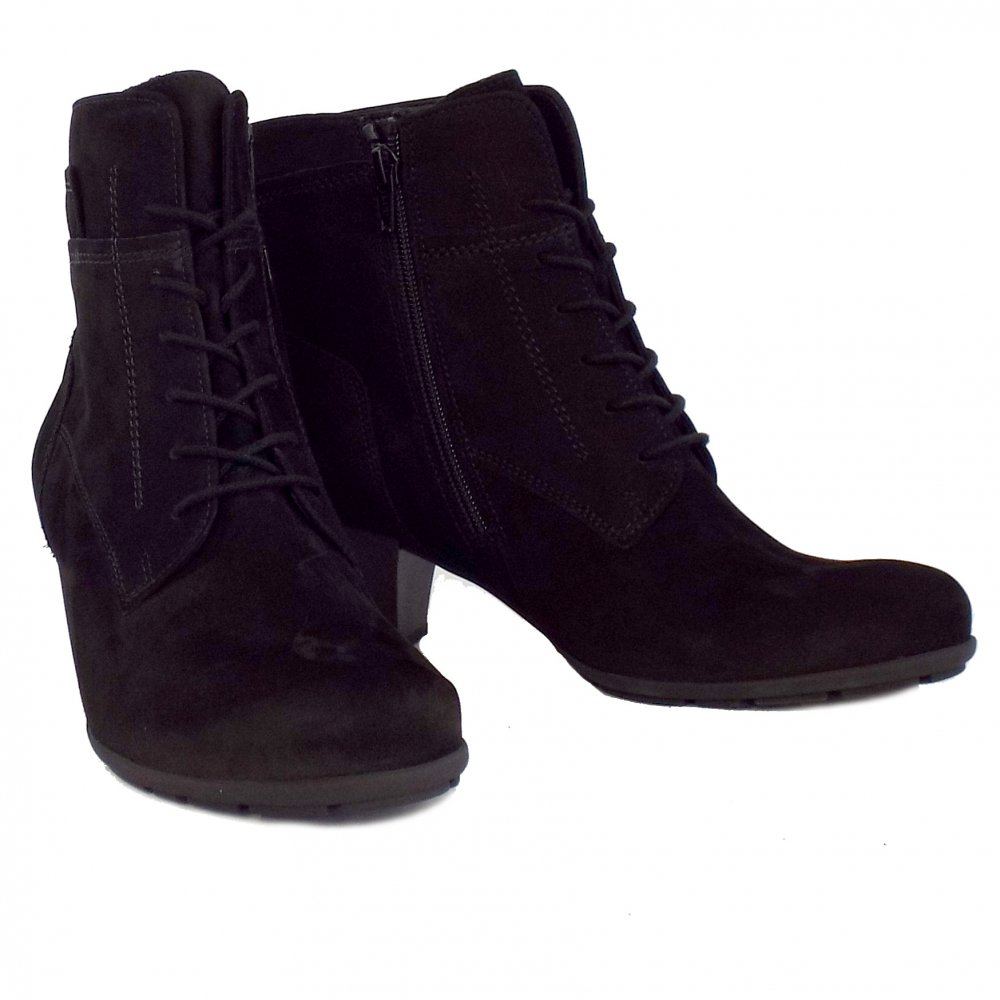 gabor national smart boots in black nubuck mozimo