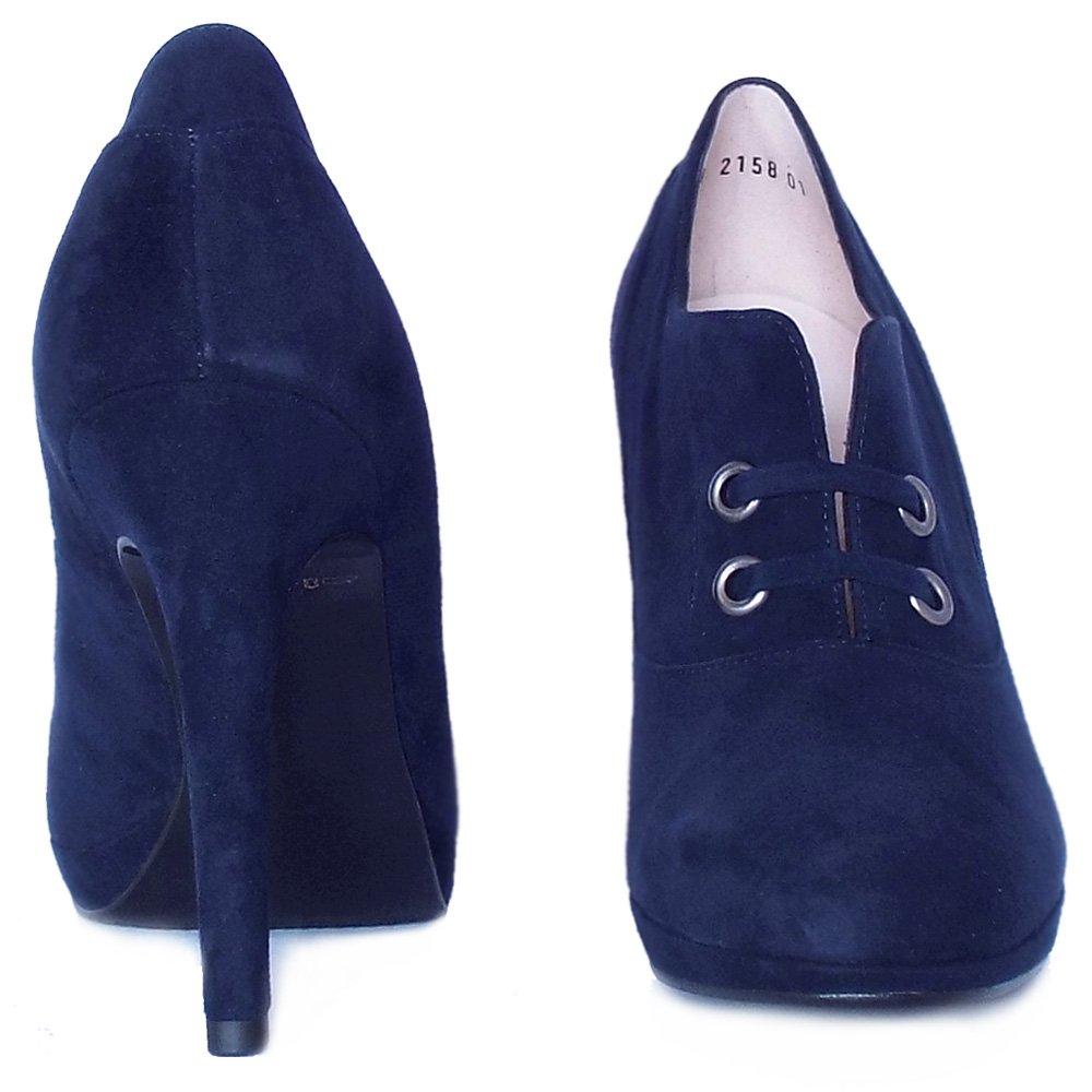 kaiser nelana high top high heel shoes in navy