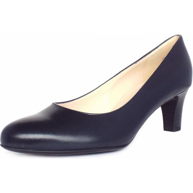 Peter Kaiser Nika Classic Court Shoes in Navy Leather