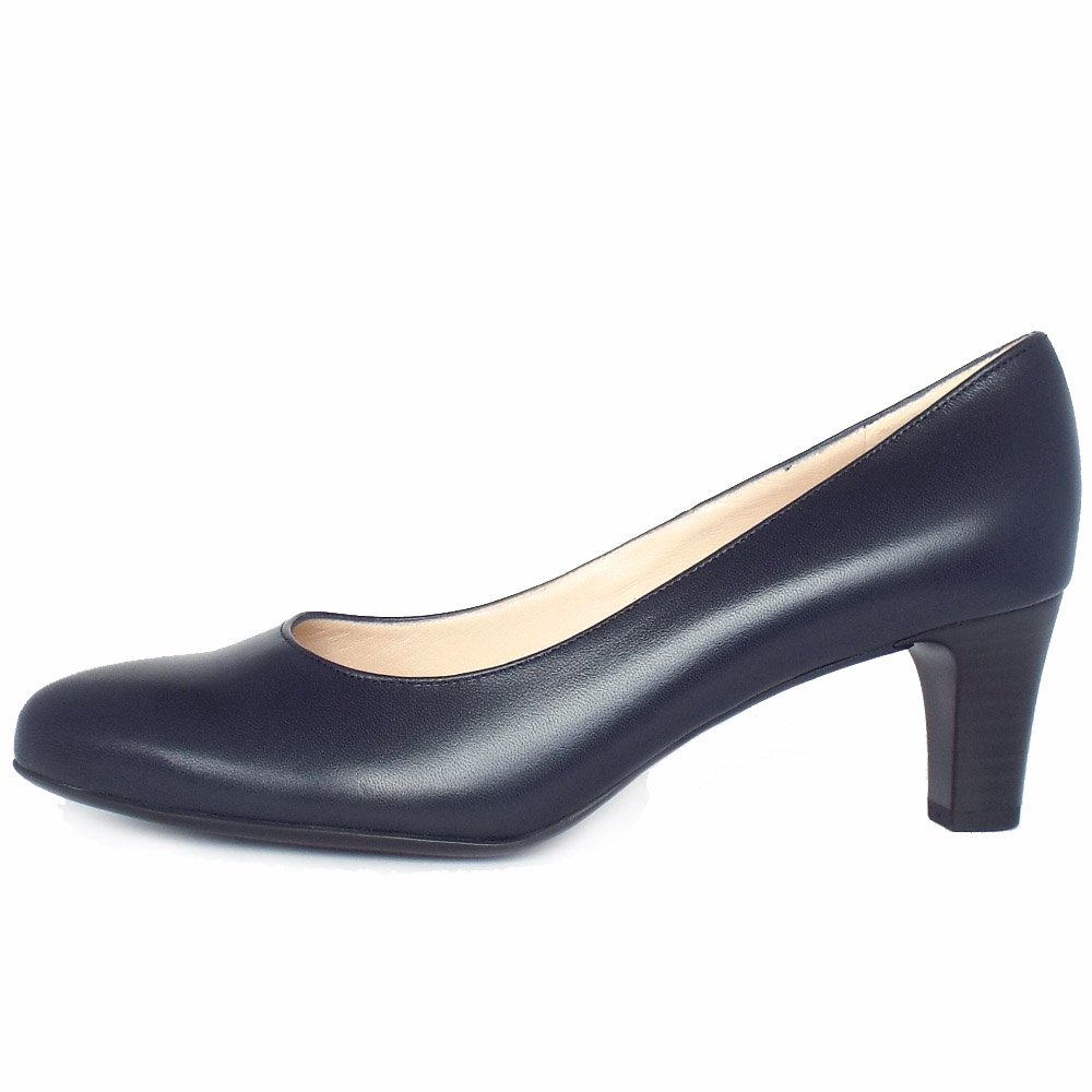 kaiser navy leather court shoes mozimo
