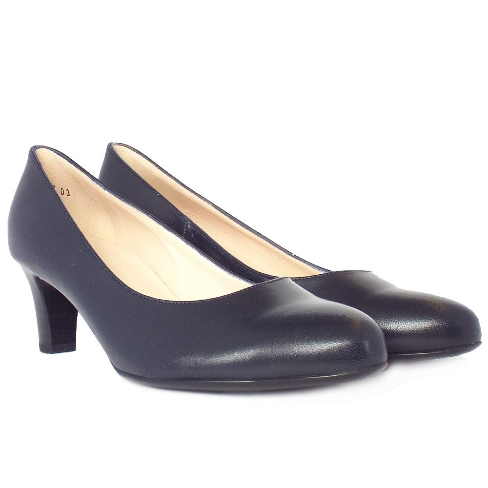 Peter Kaiser Nika Navy Leather Ladies Court Shoes Mozimo