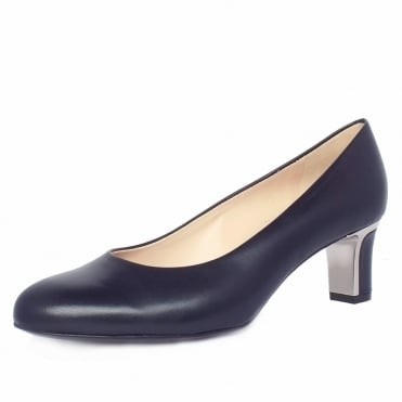 Nikki Women's Mid Heel Court Shoes in Navy