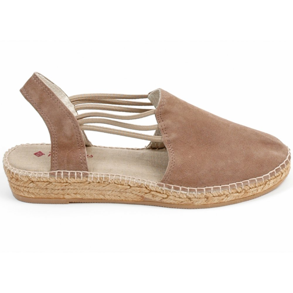 Toni Pons Nuria In Taupe Suede Genuine Spanish