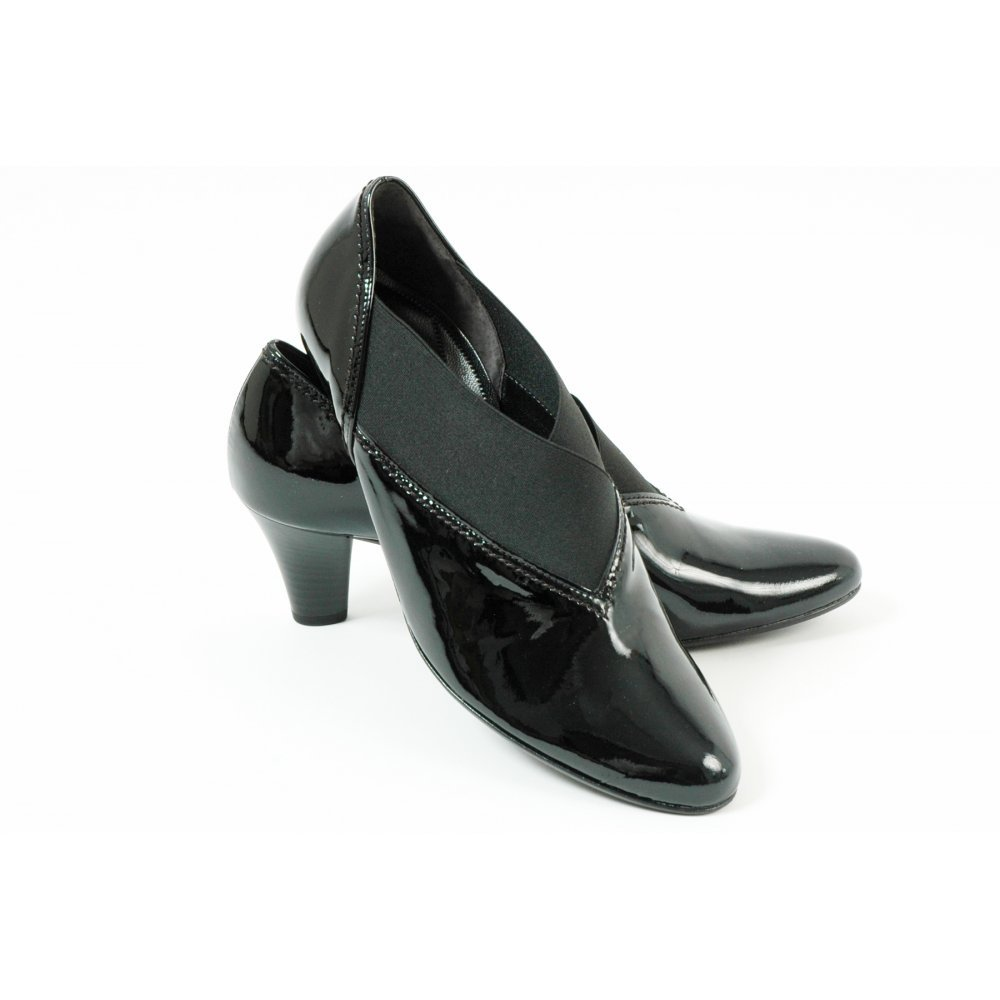gabor shoes nuro womens trouser shoe in black patent
