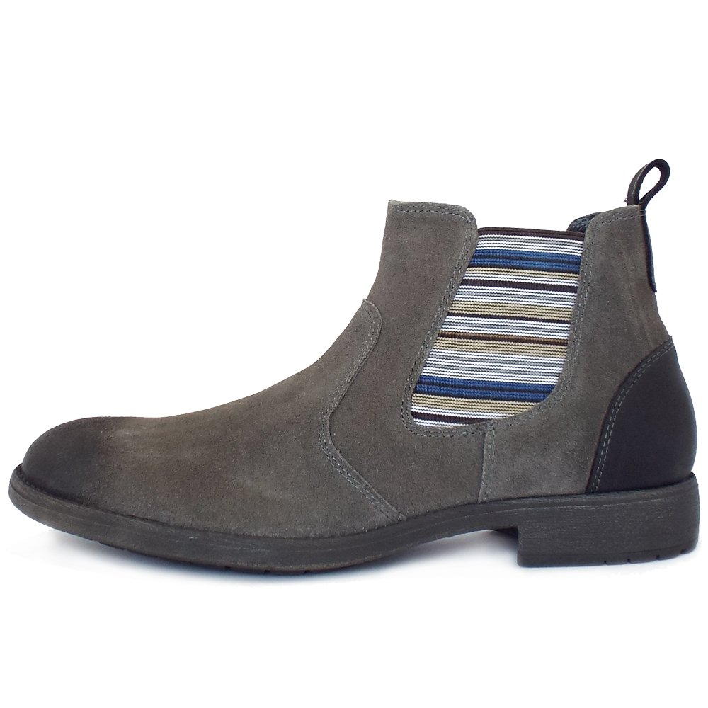 Lotus Oakworth Men S Pull On Chelseay Boots In Grey