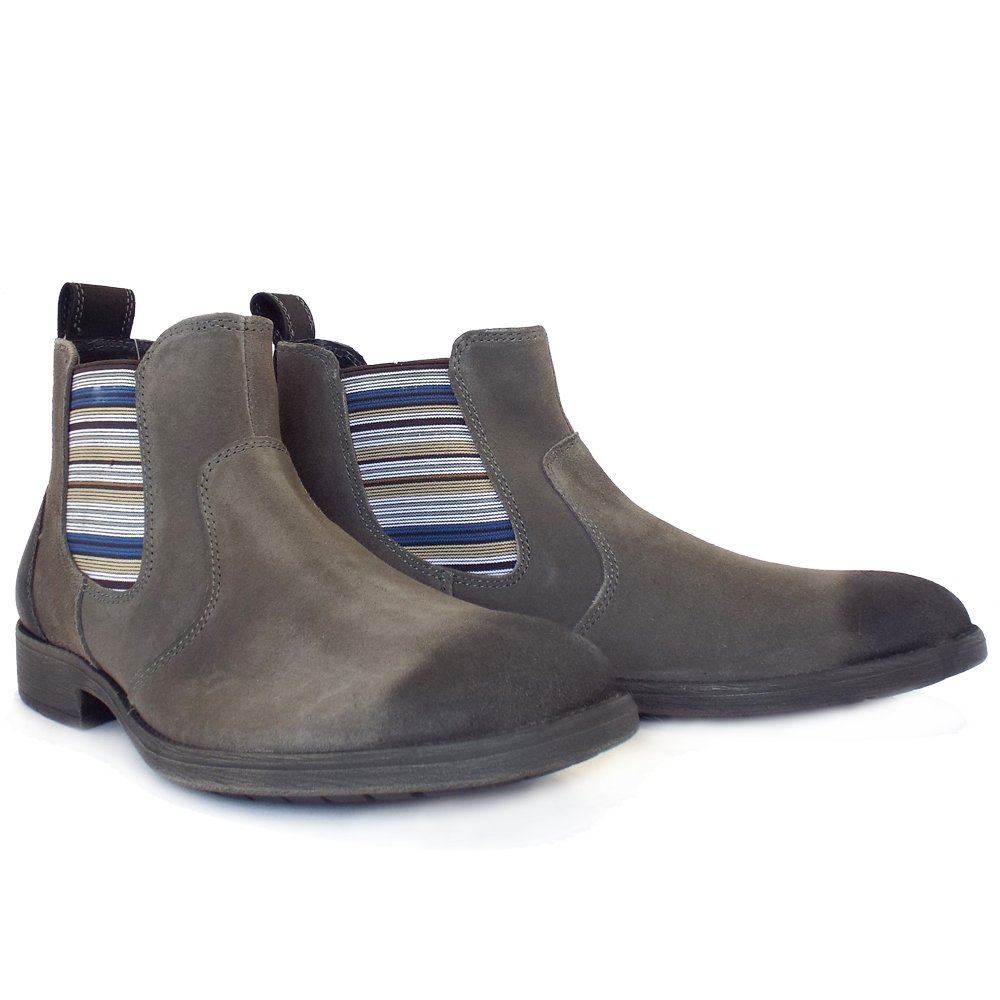 lotus oakworth s pull on chelseay boots in grey