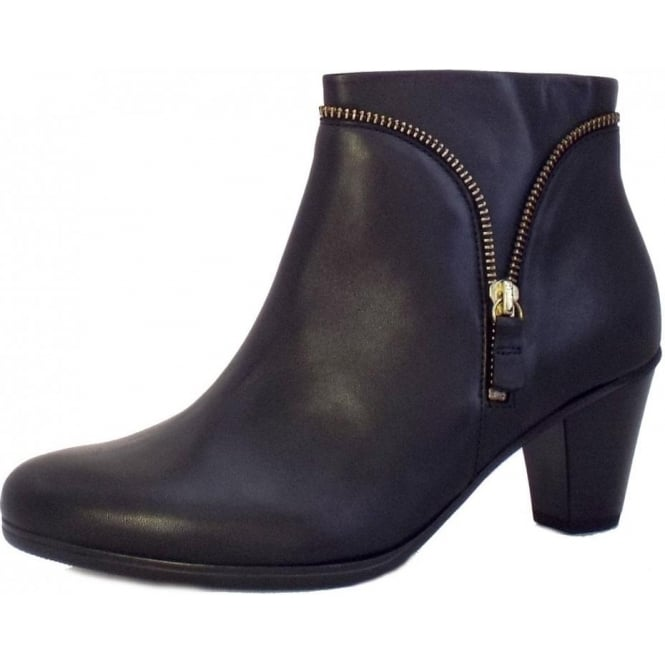 9d80f640743 Onida Ladies Ankle Boots in Black Leather