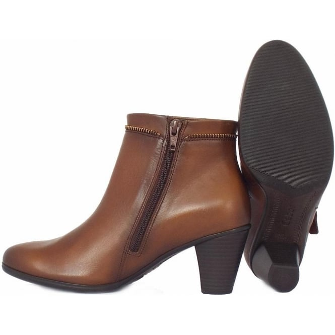 Onida Women  039 s Classic Ankle Boots In Tan Leather 203b9294c5