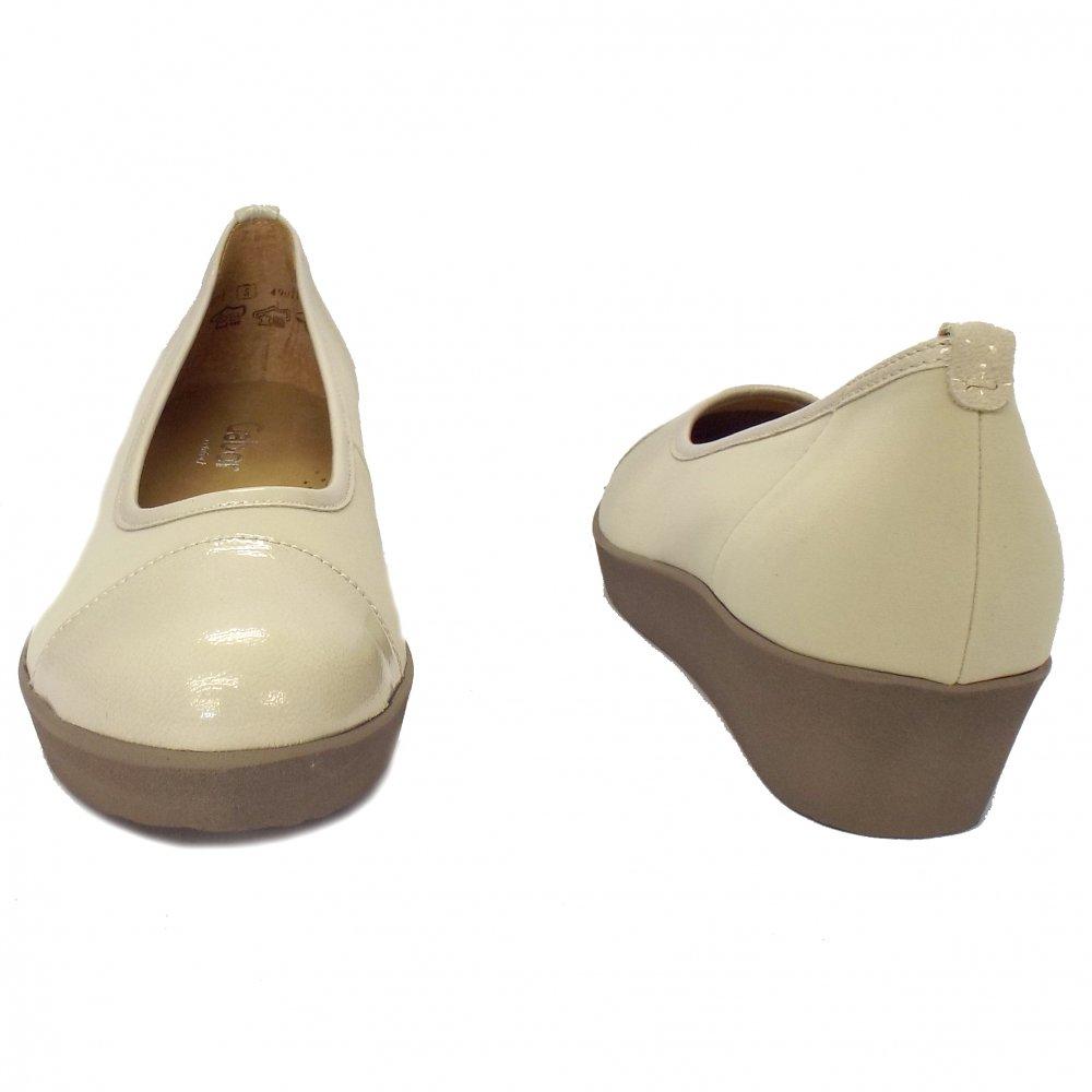 Home : Womens : Orient Ladies Wedge Shoes in Beige