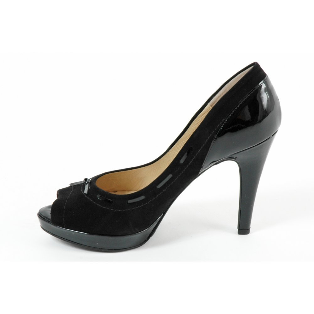 kaiser pallia high heel evening shoes in black