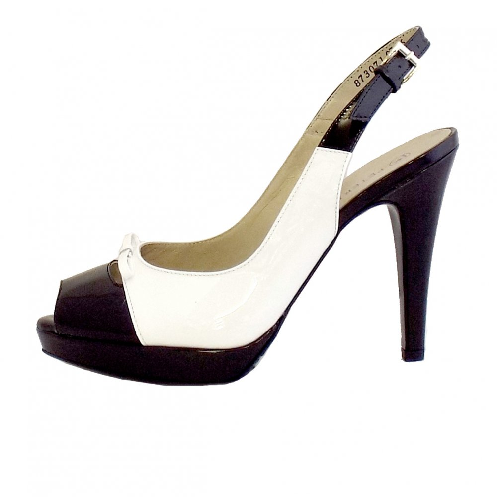 Peter kaiser palmona ladies black and white slingback for Black and white shows