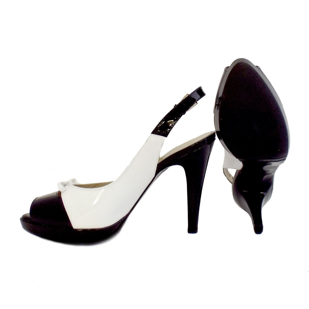 Peter Kaiser Palmona Ladies Black And White Slingback