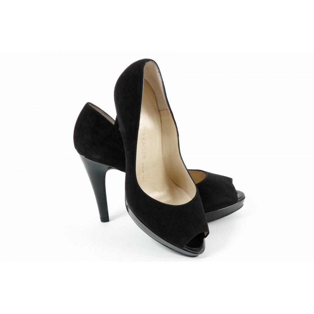 kaiser patu high heel evening shoes in black peep
