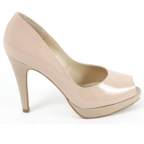 Peter Kaiser Patu high heel evening shoes in nude patent
