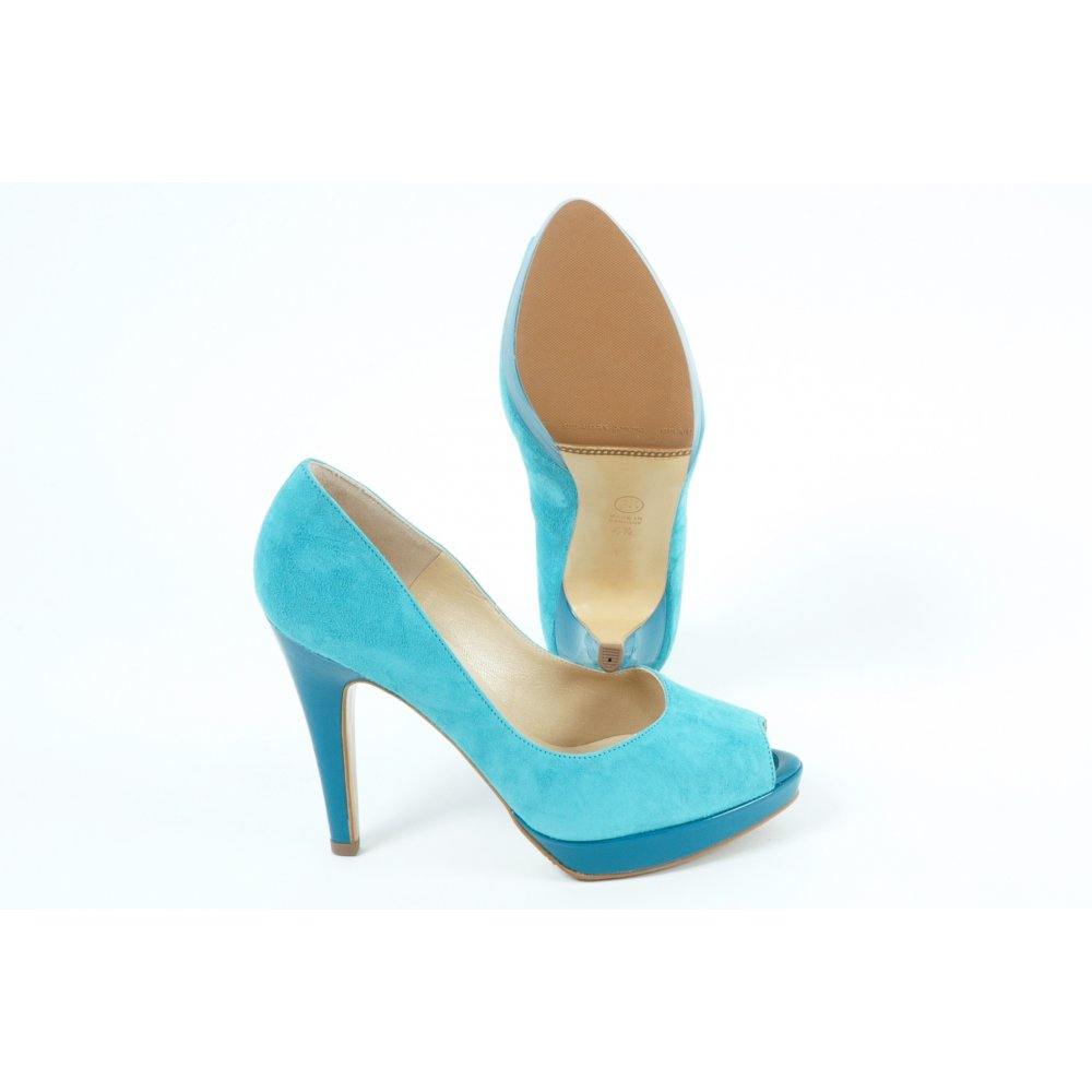 kaiser patu high heel evening shoes in turquoise