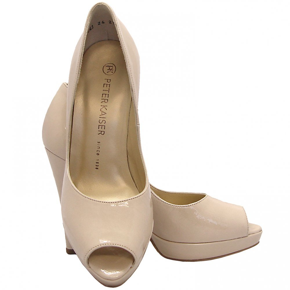 kaiser patu high heel peep toe shoes in