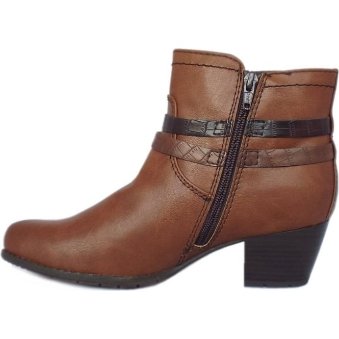50d90b2abd7b Pendragon Fashion Fleece Lined Ankle Boots in Chestnut