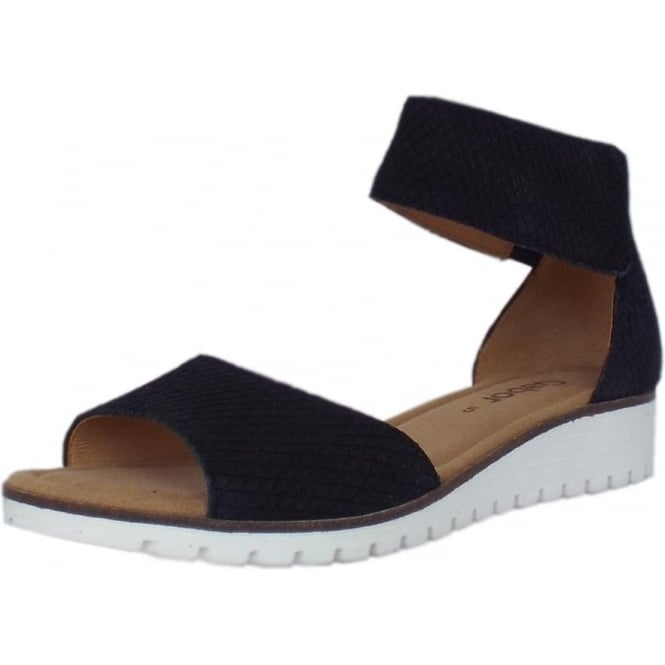 5a50a35ca751 Penny Modern Wedge Ankle Strap Sandal in Black