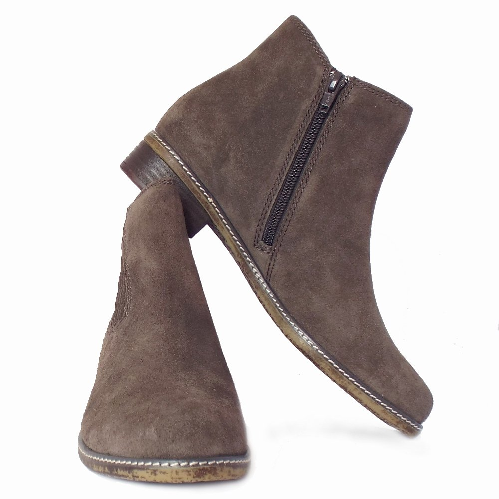 gabor pescara s modern ankle boots in grey suede