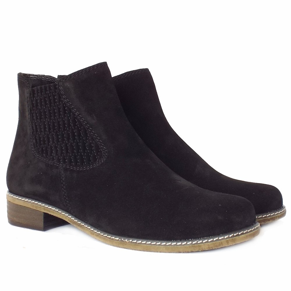 gabor pescara women 39 s modern ankle boots in black suede. Black Bedroom Furniture Sets. Home Design Ideas