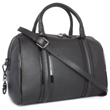 Adelena Women's Smart Casual Bowler Handbag in Black