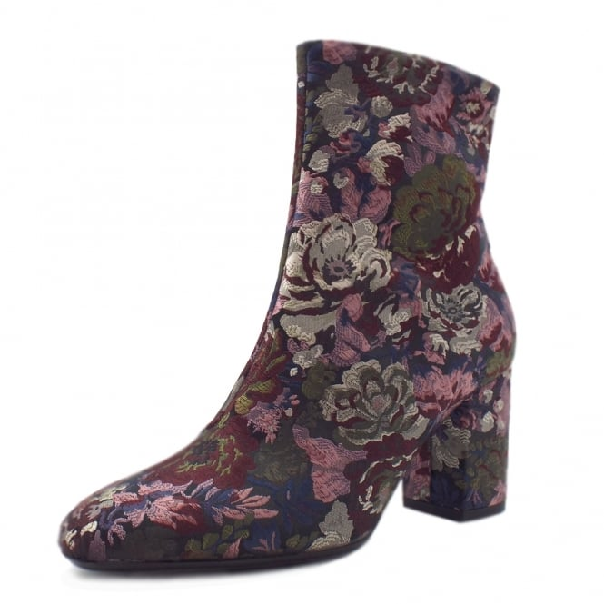 Peter Kaiser Adelyta Fashion Ankle Boots in Multi Flower