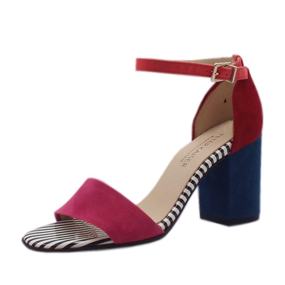82bab5787 Adilia Ankle Strap Block Heel Sandals in Multi Colour