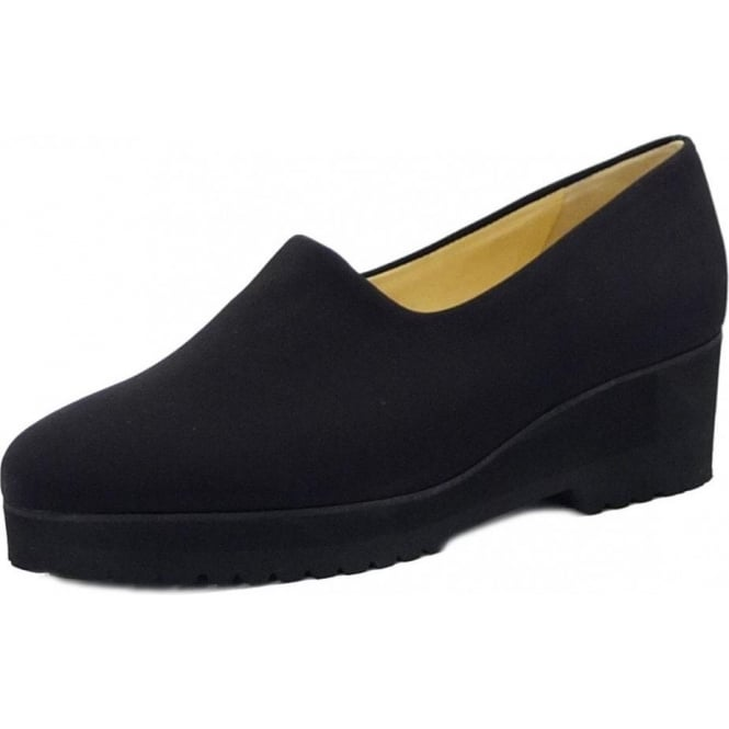 Peter Kaiser Aix Ladies Comfortable Wide Fitting Shoe in Black