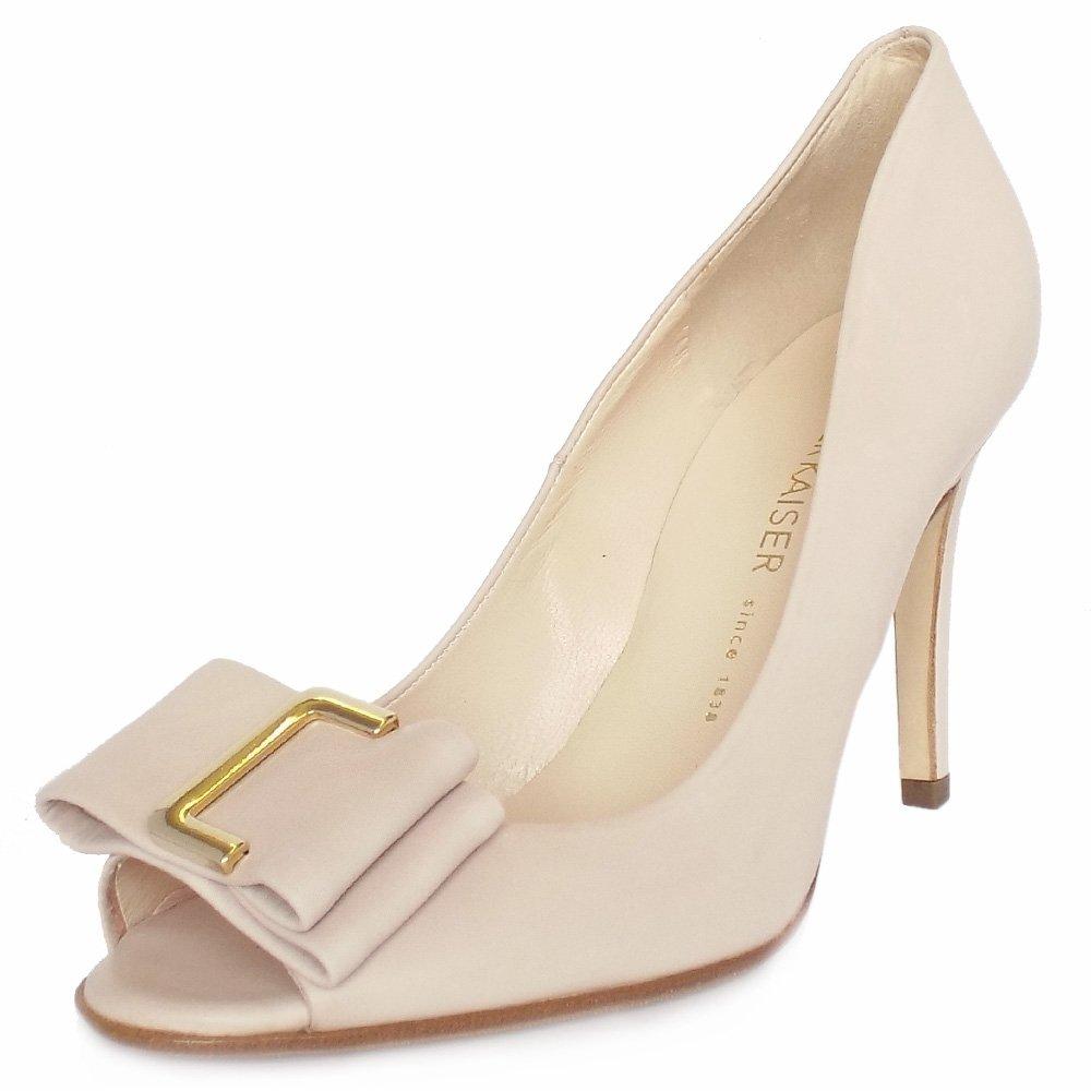 kaiser s high heel peep toe shoes in