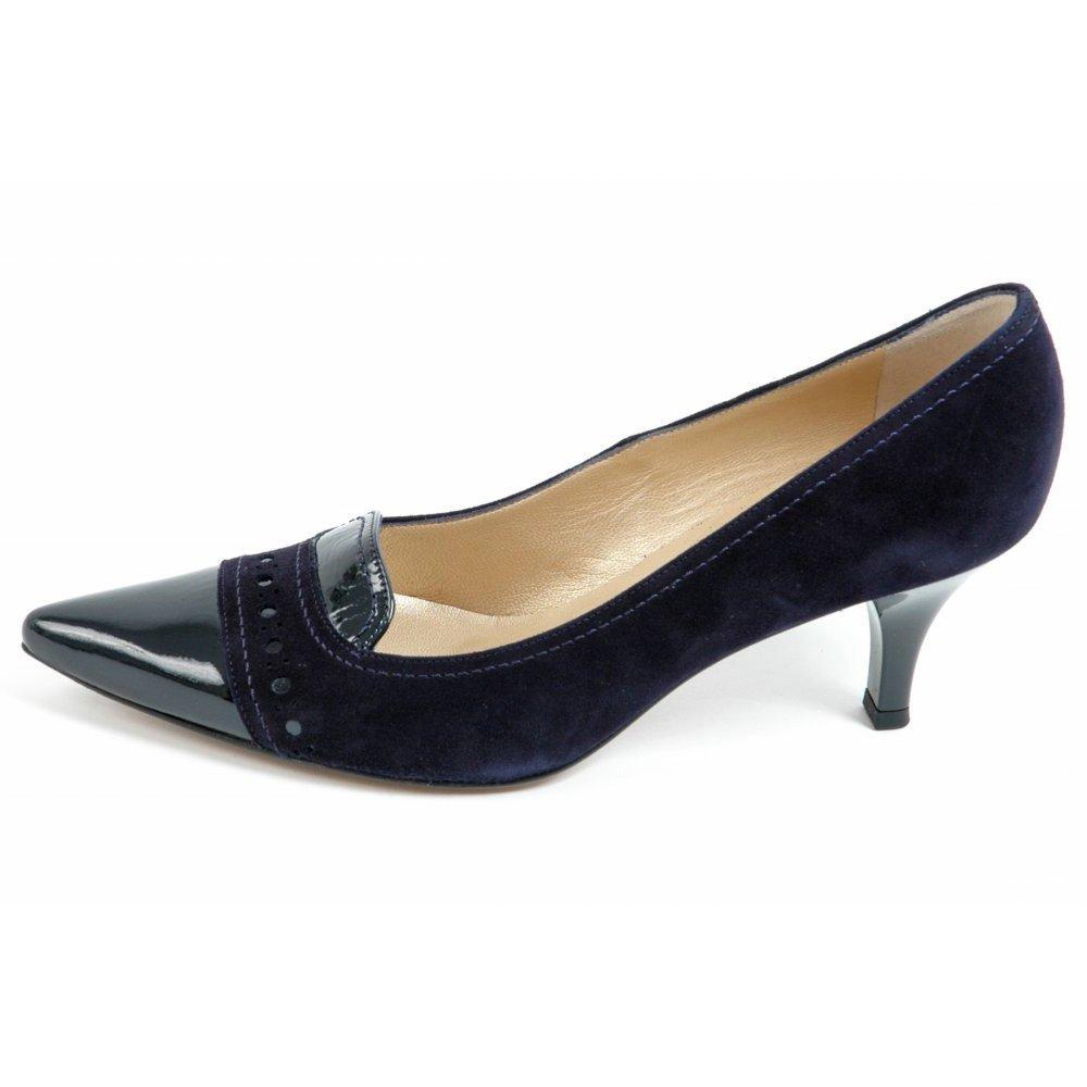 peter kasier alessandra kitten heel pointy toe shoes in navy kitten heel pointy toe court. Black Bedroom Furniture Sets. Home Design Ideas