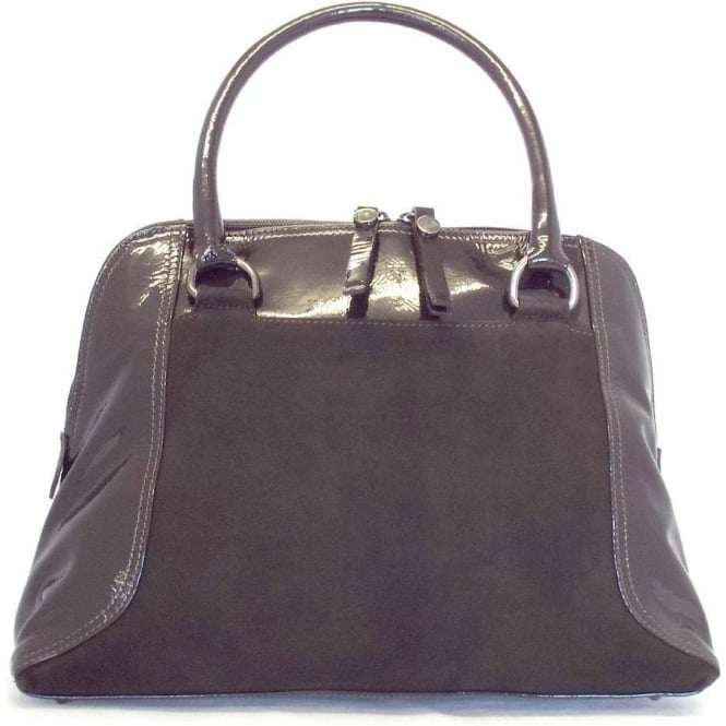 Peter Kaiser Amanda handbag in Nuba Suede and Patent by Peter Kaiser