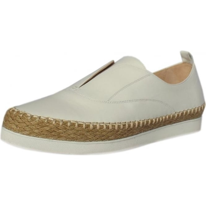 Peter Kaiser Anamarie Trendy Platform Espadrilles in White Leather