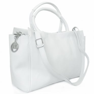 Arka Women's Fashion Handbag In Premium White Leather