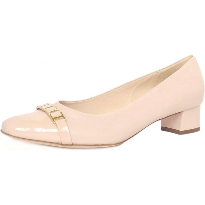 Peter Kaiser Arla Women's Low Heel Court Shoes in Powder Leather and Patent