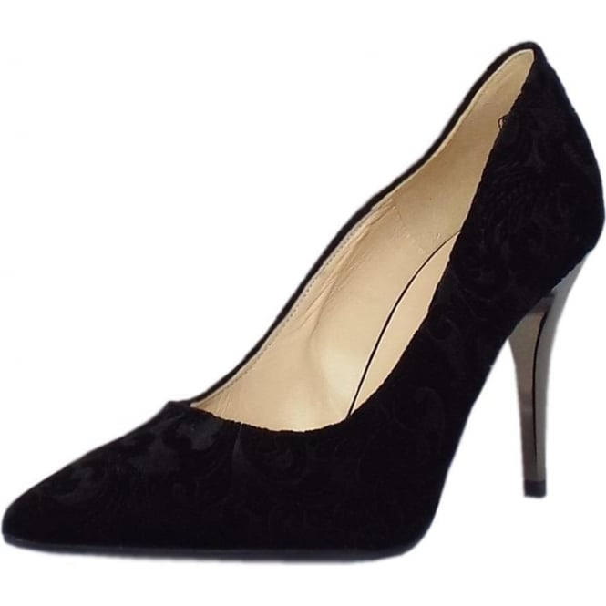 Peter Kaiser Atena Stiletto Court Shoe in Black Velvet